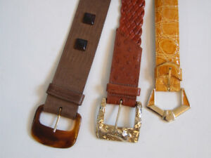 3 Earthy Women's Vintage Belts with Standout Buckles