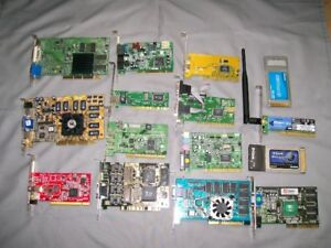 Wireless Router, PCI/USB Wi-Fi, video and sound cards
