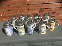 14 Holsten Replica Beer Steins Limited Edition