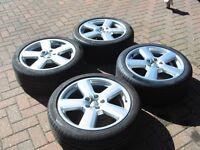 """5x 18 """" Audi alloy wheels"""