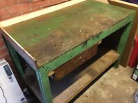 Work Bench solid wood 4ft