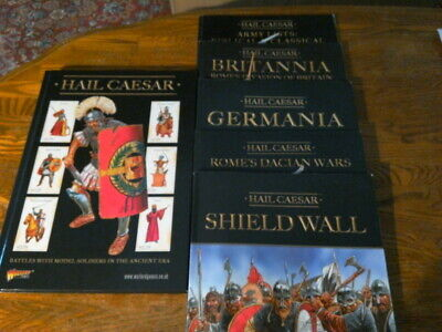 Warlord Games HAIL CAESAR & 5 related Historical Period Supplements as shown, used for sale  Villa Rica