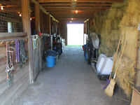 Horse Barn and Pasture for Rent