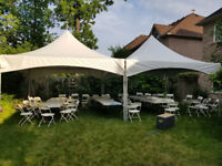 Tents rental chairs tables