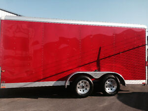 Enclosed trailer 16ft with chalks 4 motorcycle chalks