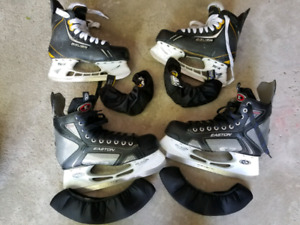 Easton S3 Men and Bauer Supreme One.8 Youth Skates