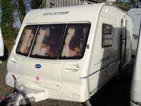 Bailey Senator Vermont 2002 Lightweight 2 Berth Touring Caravan End Washroom