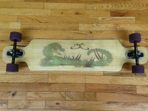 Near New Longboard with Clear Grip Tape
