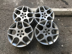 4 mags rims jantes volkswagen 17po 5x100