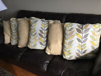 Yellow/beige Decorative Throw Pillows