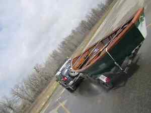 Beautiful fly fishing drift boat
