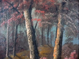 New England Fantasy Oil Painting by Joseph Collazzi 1930's Stratford Kitchener Area image 10