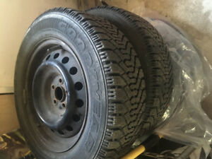 Winter Tires With Rims - P195 65R15. Great condition.