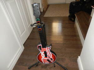 Guitar Hero guitar and Stand