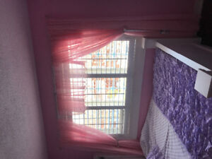 Pink curtains for sale!