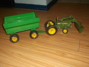 Metal tonka tractor with trailer