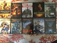 10 Action DVD Collection inc Superman, Riddick, Saw & Oblivion.