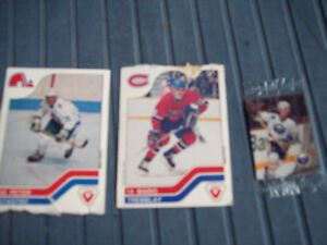 3-CARTES DE HOCKEY 1990,ASSORTIES DE COLLECTION.