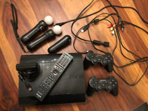 PS3 + controllers + PS3 eye camera + games (great condition!)