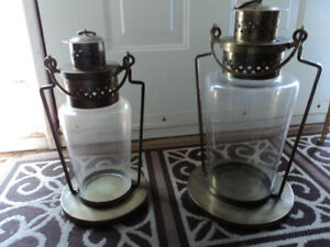Two Beautiful Glass Lanterns