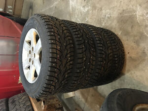 BRAND NEW WINTER STUDDED TIRES