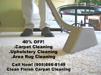 40% OFF ANY CARPET CLEANING SERVICE + WE PAY THE HST!