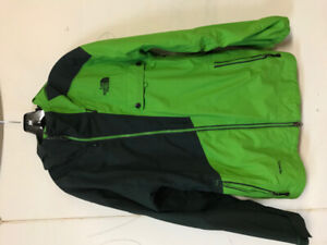 Northface Green Color Block Cryptic Hyvent Snowboarding Jacket