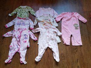 Baby girl size 6 to 9 months clothing lot