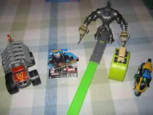 Hot wheels Max steel and different vehicles and launcher..