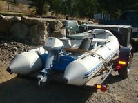 12 ft Zodiac with trailer & motor