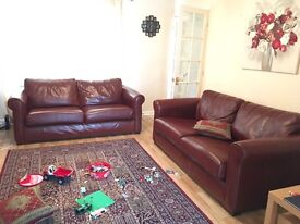 Sofas leather two 3seaters from sofa sofa - bargain - still in warranty