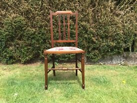 ART NOUVEAU. AN ORIGINAL ANTIQUE CHAIR. C/ EARLY 1900's. A BEAUTIFUL LOOKING AND EXTREMLY RARE CHAIR