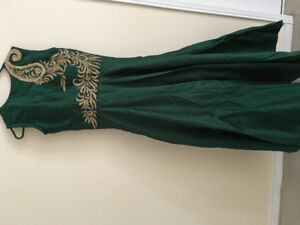 Indian gown style anarkali for parties or weddings.