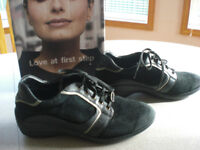 Sensible Stretchable Leather Shoes Size 8