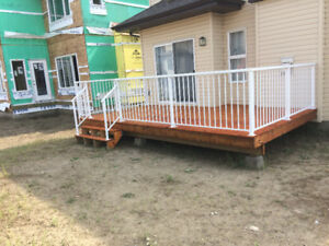 Supply and install Welded aluminum RAILINGS power coated. full s