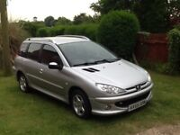 Peugeot 206 SW 1.4 Diesel Estate - Only £25 per year road tax !