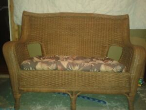 4 piece wicker set