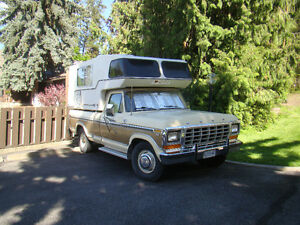 1979 Ford F-250 Truck and Camper