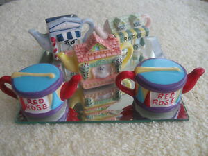 "GROUP FIVE ADORABLE LITTLE CHINA ""RED ROSE TEA""  COLLECTIBLES..."