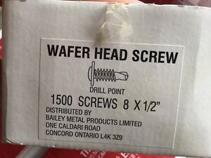 Wafer head screws 5 boxes