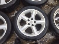 "17"" GENUINE VAUXHALL SRI ALLOY WHEELS ASTRA VECTRA ZAFIRA WITH TYRES"