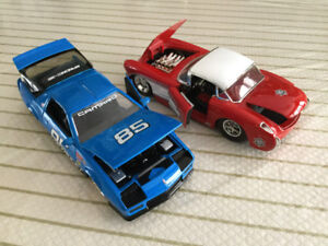 FOR SALE:  PAIR OF VINTAGE - CHEVROLET RACE CARS