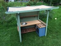 Handmade hardwood mud kitchen