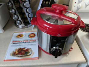 Brand-new, never used WP pressure cooker with cook book
