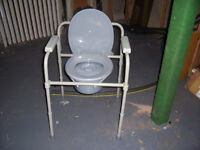 Commode and bath chair