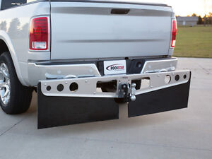 used ROCKSTAR™ Hitch Mounted Mud Flaps (RV, Cargo, Trailer tow)