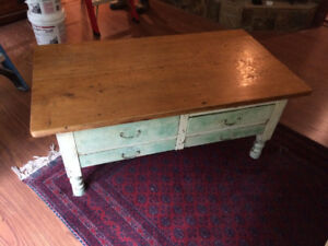 Antique Cabinet, Coffee Table