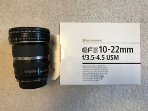 Canon EFS 10 - 22 mm f/3.5-4.5 Wide Angle Lens
