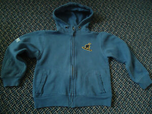 Boys Size 4 Full Zip Jogger Style Sweater