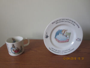 Peter Rabbit Bread and Butter Plate and Mug
